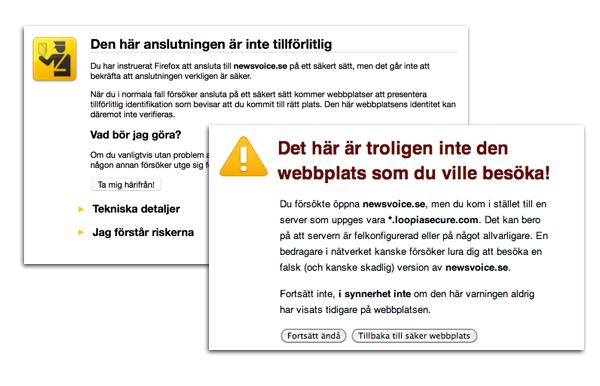 NewsVoice varningsmeddelande