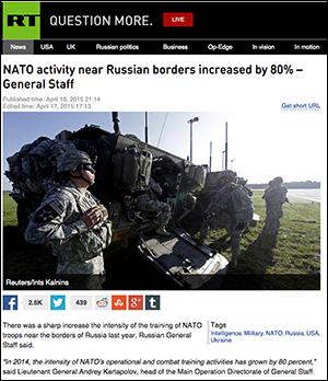 Russia-NATO activity 2015