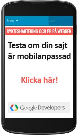 Testa om din sajt är mobilanpassad