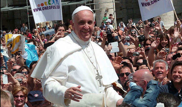 Pope Francis - Photo: Jacopo Werther,   Wikimedia Commons