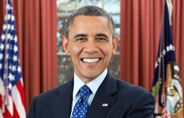 Barack Obama - Officiellt foto från Vita Huset av Pete Souza, Public Domain
