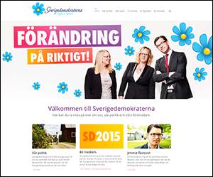 SverigeDemokraterna - hemsida i juni 2015