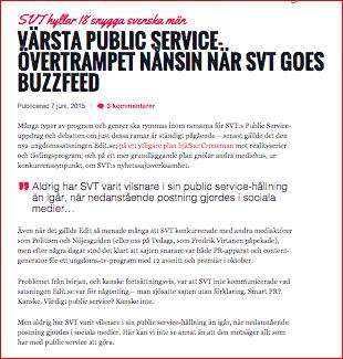 TV dags om public service 2015