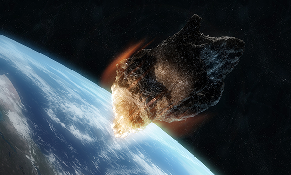 Vad händer om en asteroid slår ned på jorden?