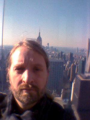 Jacob Nordangård selfie i New York,   2012