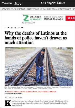 LA Times latinos police