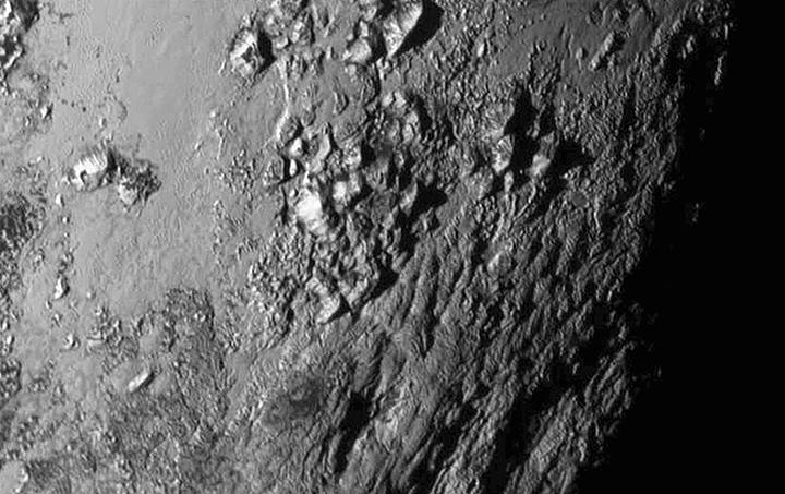 Pluto mountains 2015 NASA