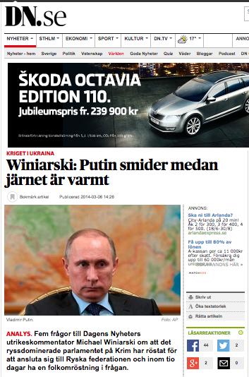 Putin smider DN