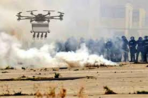 Desert Wolf Skunk Riot Control Copter
