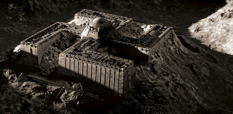 Iron Sky - Nazi VoF fortress on the Moon