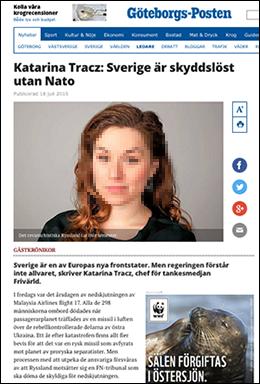 Katarina Tracz i Goteborgsposten 2015