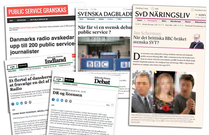 Debatt om svensk public service. Montage: NewsVoice