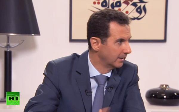 Assad intervju sep 2015 - Foto: RT.com