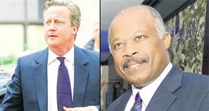 David Cameron och Sir Hilary Beckles - Foto Jamaica Observer