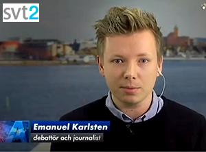 Emanuel Karlsten - Foto: SVT2