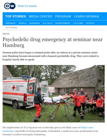 Homeopater förgiftades av knark under konferens