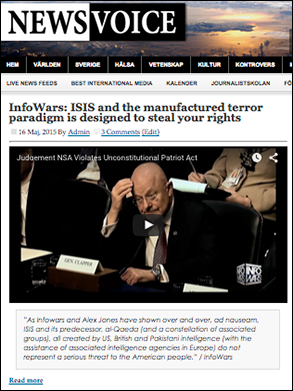 InfoWars: ISIS is manufactured
