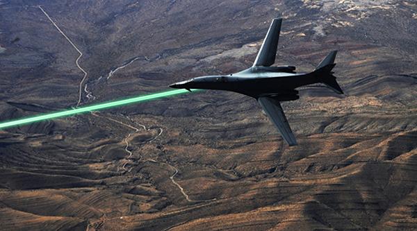 Laser mounted fighter - Image: DARPA