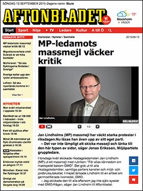 NewsVoice i Aftonbladet 13 sep 2015