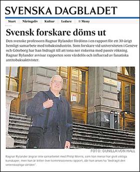 Ragnar Rylander i SvD, 2004