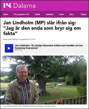 SR:s intervju med Jan Lindholm