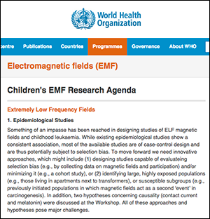 WHO:s EMF-agenda