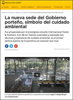 Artikel La nueva sede del Gobierno Argentina