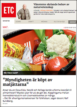 ETC kritik mot Livsmedelsverket 2015