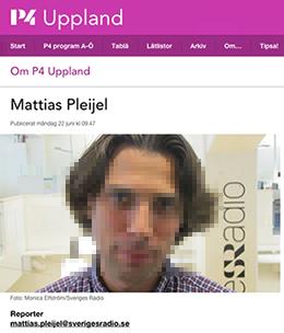 Mattias Pleijel - Foto: Monica Elfström/Sveriges Radio. Fotot är pixelerat för att skydda upphovsrätten
