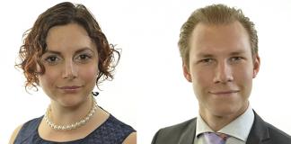Paula Bieler (SD) och Markus Wiechel (SD) - Foton: Riksdagen