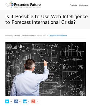 Recorded Future - Forecast international crisis