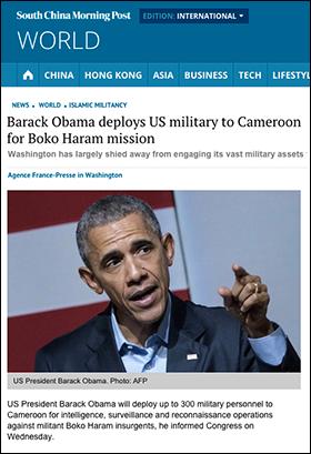 USA-trupper till Kamerun 2015