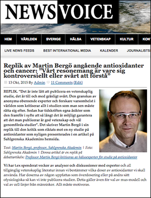 Bergö replik antioxidanter