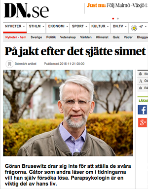 Göran Brusewitz i DN 21 nov 2015