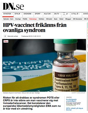 HPV-vaccin frikänns - DN