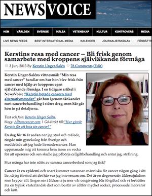 Kerstin Unger-Saléns resa med cancer