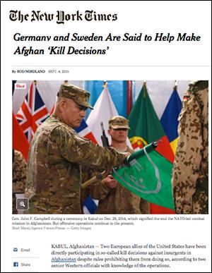NY Times: Sweden involved in drone kill decicions