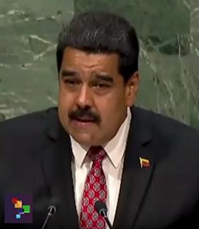 Nicolas Maduro UN speech 29 sep 2015 - Foto: TeleSUR (telesurtv.net)
