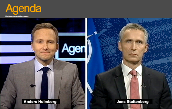 SVT Agenda intervjuade NATO-chefen Jens Stoltenberg, publicerat den 18 november, 2015