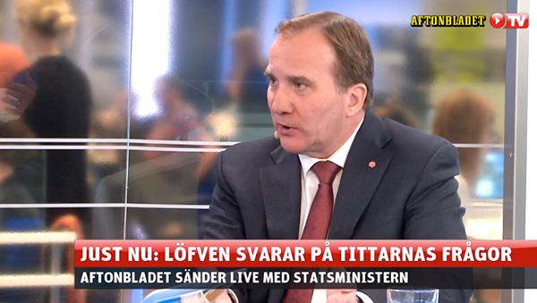 Stefan Löfvén intervjuades i Aftonbladet 20 nov 2015