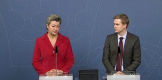 Ylva Johansson (S) och Gustav Fridolin (MP) - Foto: Regeringen
