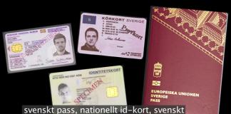 svenskt pass - Foto: polisen