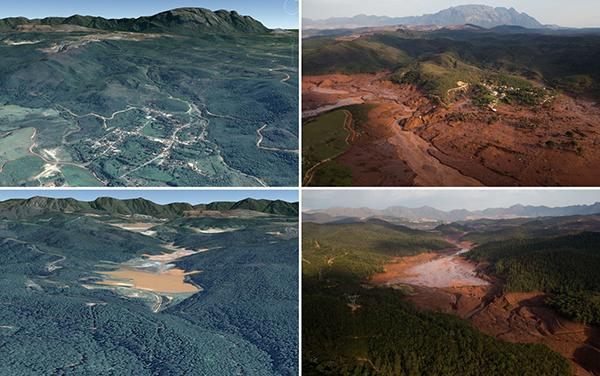 Rio Doce antes e depois 2015