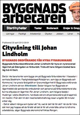 Arbetaren: Cityvåning till Johan Lindholm, 2016
