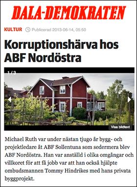 Dalademokraten: Korruptionshärva ABF Nordöstra - jan 2016