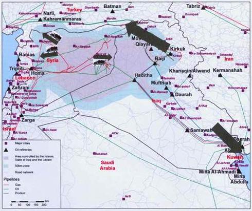 Klassekampen-ISIS-karta