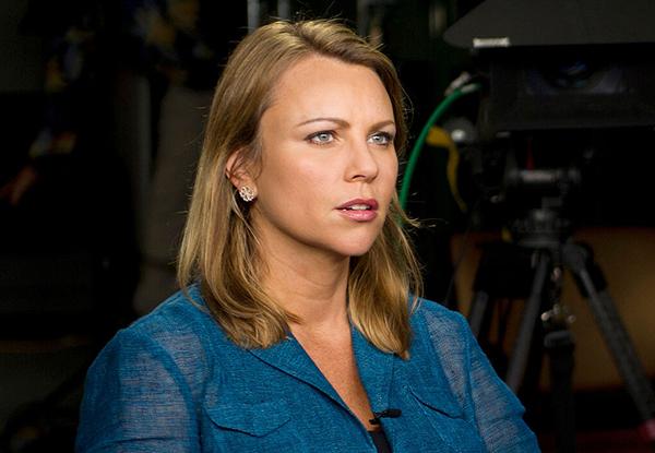 Foto på Lara Logan från 2013, Wikimedia Commons