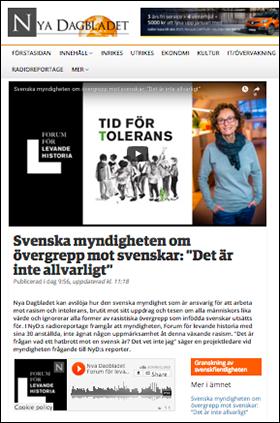 NyaDagbladet om hatbrott