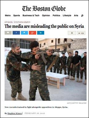 Boston Globe on Syria 2016