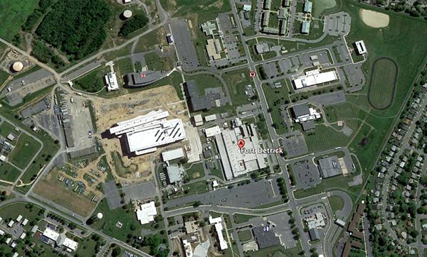 Fort Detrick Bild: Google Earth